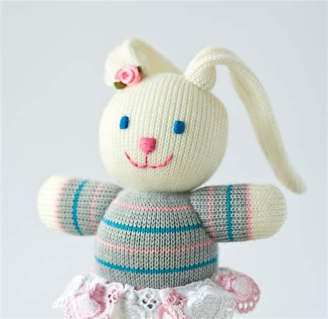 knitting toys baby bunny knitted knitted animal easter gift by frejatoys
