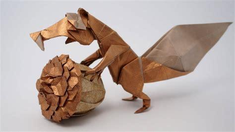 origami squirrel origami prehistoric squirrel scrat fernando gilgado