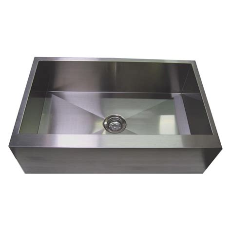 stainless steel apron front kitchen sink 30 stainless steel zero radius kitchen sink flat apron