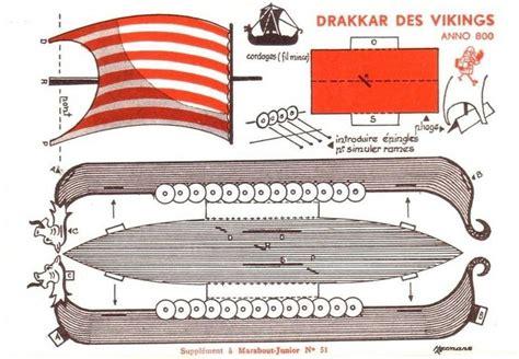 boat paper craft free printable viking ship vintage papercraft free