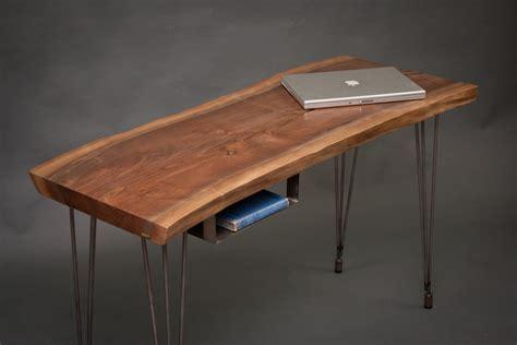 lie desk your custom modern live edge black walnut desk