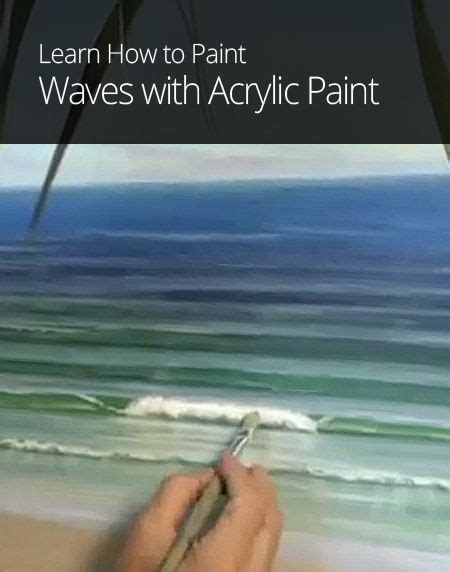 how to paint acrylic how to paint waves with acrylic paint paintings