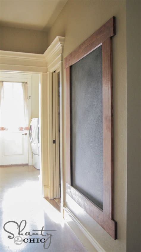diy chalkboard walls diy framed chalkboard wall shanty 2 chic