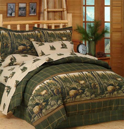 wildlife bed sets rocky mountain elk wildlife comforter set sheets bed in