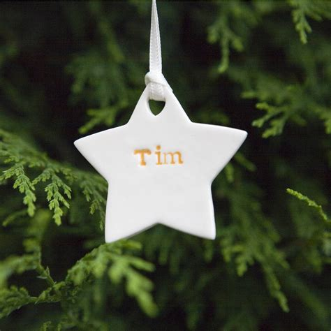 tree decorations personalised personalised tree decorations by foxery