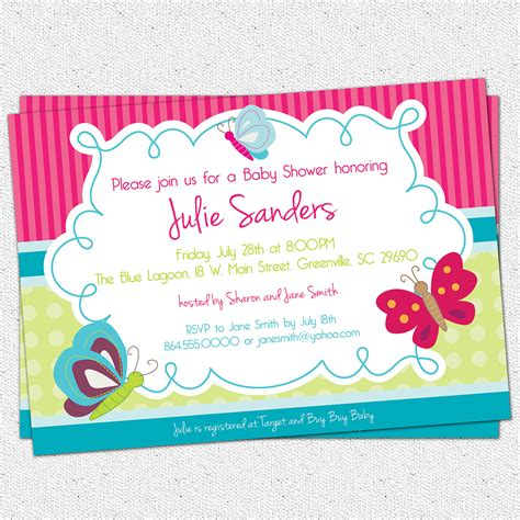 how to make baby shower invitation cards birthday invitations how to create butterfly baby shower