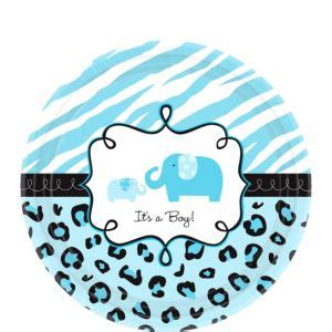Safari Blue Baby Shower City by Blue Safari Baby Shower Dessert Plates 18ct City