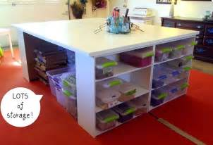 craft table with storage for large craft table with storage home decorating trends