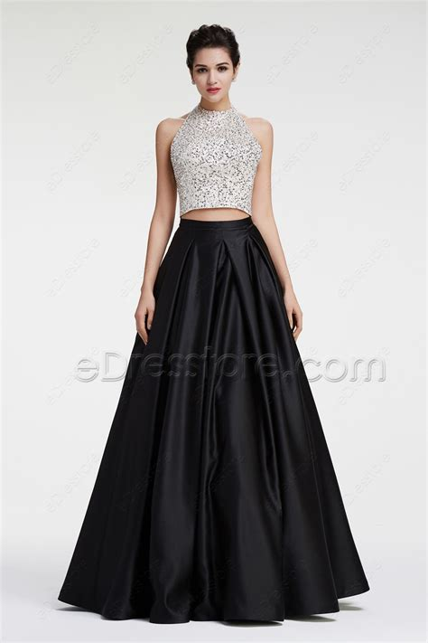 black and white beaded dress black and white beaded sparkly gown two prom