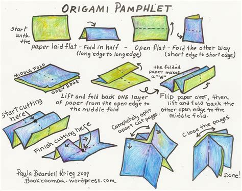 how to make a out of origami how to make an origami phlet playful bookbinding and