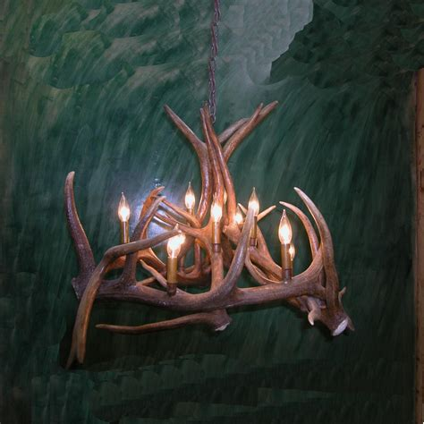 elk chandelier elk antler basket chandelier