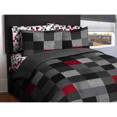 and black bed sets american original geo blocks bed in a bag bedding