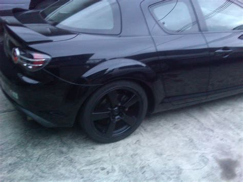 spray painting rims black stock rims painted black check it out rx8club