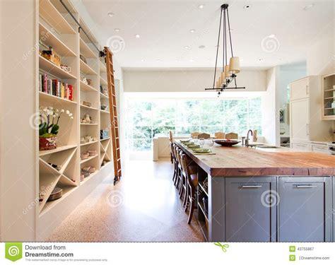 Kitchen Island Prices modern kitchen butcher block top island stock photo
