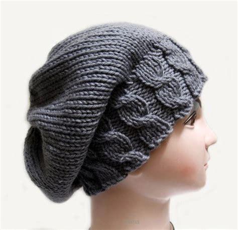 womens knit hat pattern knitting pattern hat beanie slouchy fall for womens in pdf