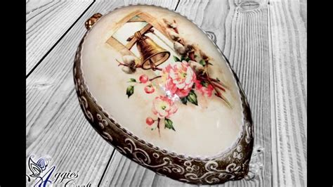 easter decoupage decoupage tutorial easter egg with relief and wax paste