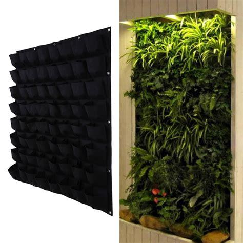 hanging wall garden aliexpress buy 64 pocket hanging vertical garden