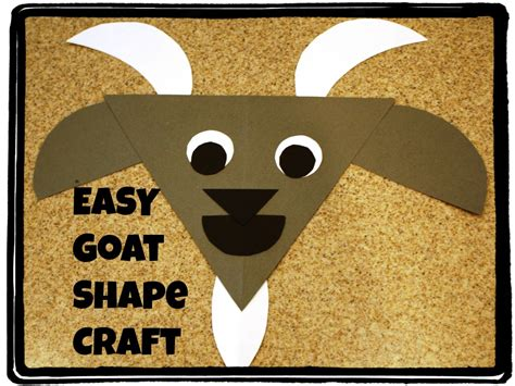 G Is For Goat Shapes Craft