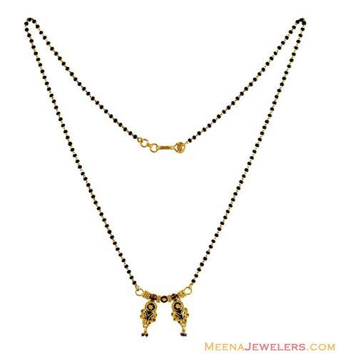 traditional mangalsutra with black 22k traditional mangalsutra chms12544 22 karat gold