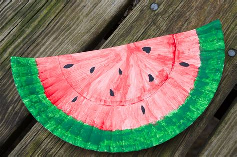 watermelon paper craft watermelon paper plate craft 20 recipes diy activities