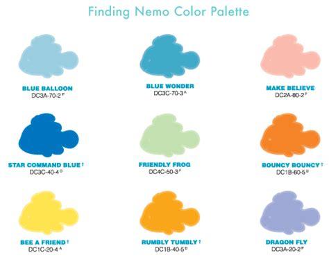 behr paint colors disney disney home color by behr nemo line disney color