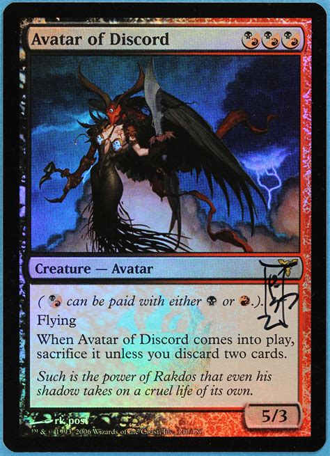 how to make a magic the gathering card avatar of discord dissension foil signed id s1583