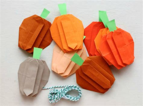 origami pumpkins origami for easy peasy and
