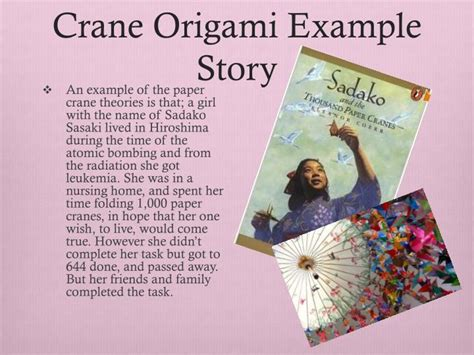 origami peace crane story ppt japanese origami powerpoint presentation id 1608279