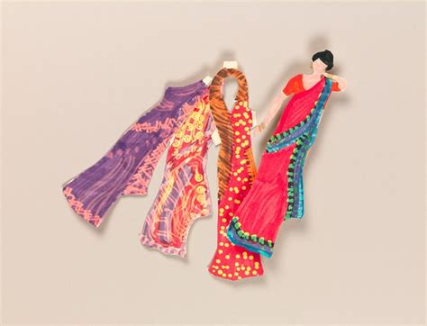 paper dolls craft indian sari paper dolls craft crayola