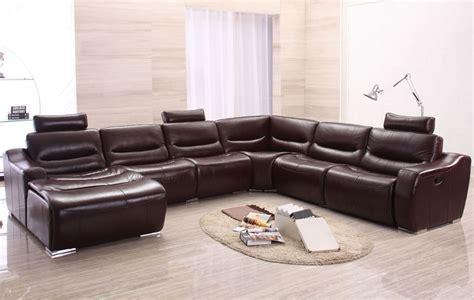 large modern sectional sofas large modern u shape reclining sectional sofa