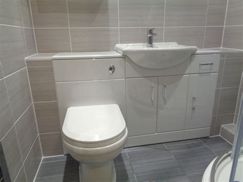 P Shaped Bath Shower Screen Seal bathroom converted to a shower room with bathroom storage