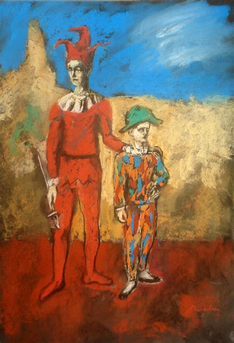 picasso paintings clowns picasso study 2 clowns by bogdantzigan on deviantart