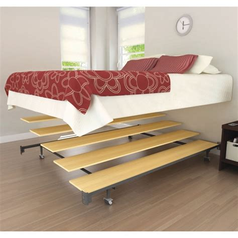 cool wooden bed frames modern bedroom furniture platform metal floating bed