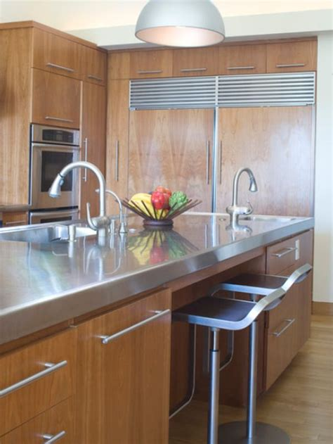 kitchen islands with stainless steel tops 10 beautiful stainless steel kitchen island designs