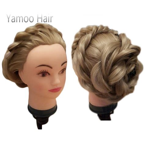 hairstyles to do on manikin training mannequin head with hair 75cm synthetic fiber