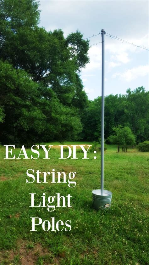 poles to hang string lights best 25 string lights outdoor ideas on garden