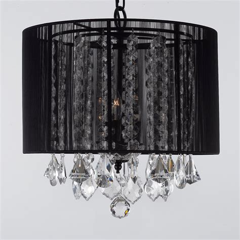 black shade chandelier g7 black 604 3 gallery chandeliers with shades