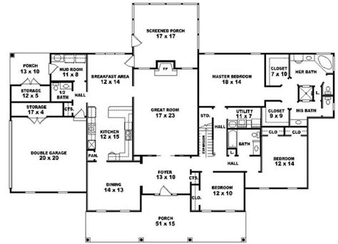5 bedroom house plans 1 story 5 bedroom 3 bath one story house plans rustic bedroom bath