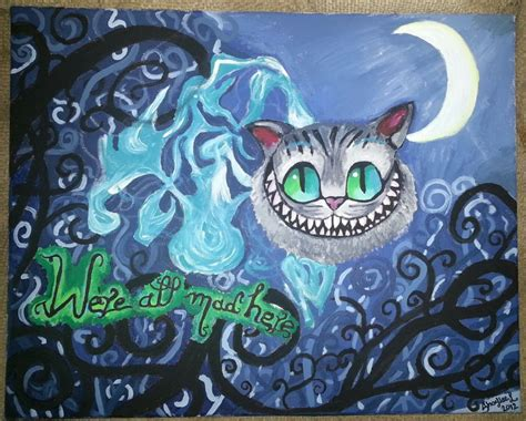 cheshire cats painting cheshire cat painting by shybaby16 on deviantart