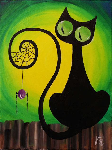 simple painting cat designs painting with free acrylic painting tutorials for
