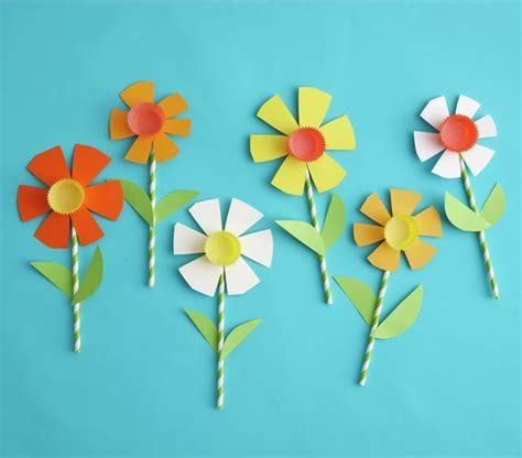 paper flower craft for children easy easter crafts for colored paper make paper