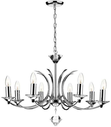 chrome chandelier dar medusa modern 8 light dual mount chandelier chrome med0850