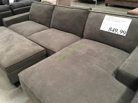 fabric ottoman with storage fabric sectional with storage ottoman costcochaser