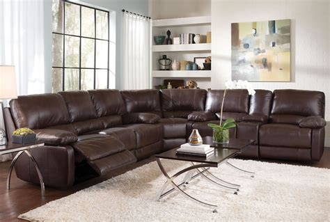 sectional sofa with recliners plushemisphere collections of leather sectional