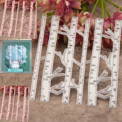 dies for paper crafting birch trees metal cutting dies stencil scrapbooking cards