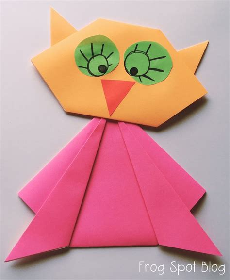origami craft paper owl paper folding craft new teachers paper