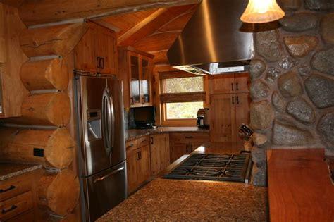 colorado woodworking log kitchen cabin