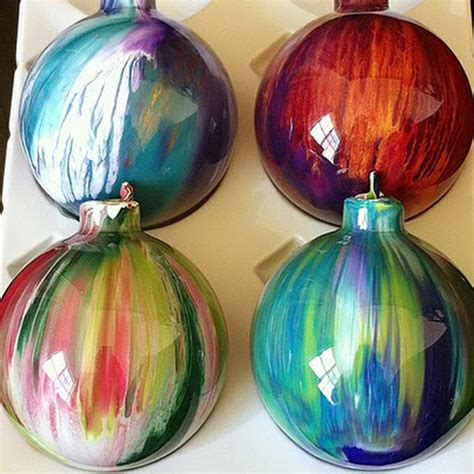 acrylic paint glass ornaments diy ornament ideas 20 pics