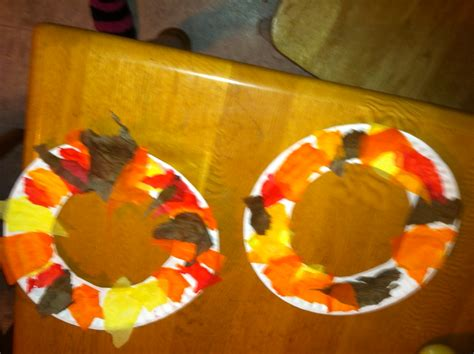 paper plate fall crafts fall crafts paper plate fall wreath and finger paint fall