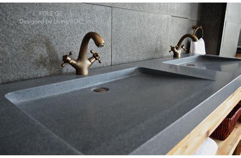 63 quot trough sink gray granite double bathroom sinks stone